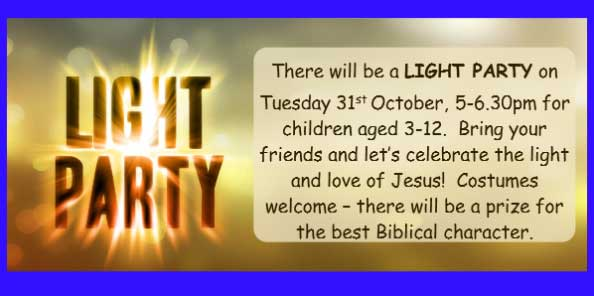 Light Party - A Halloween alternative - Bring your friends!