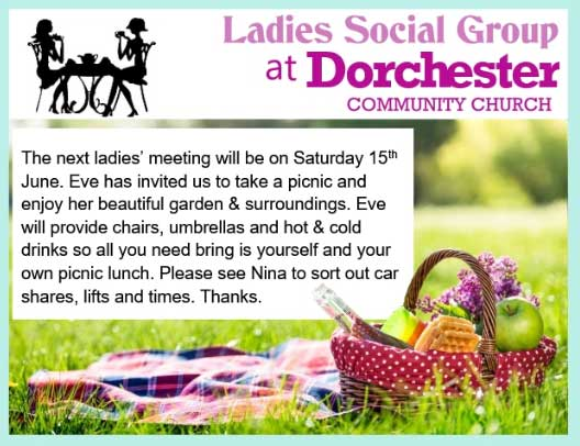 Ladies Social Group – Picnic at Eve's