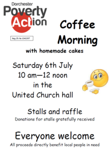 Dorchester Poverty Action Coffee Morning