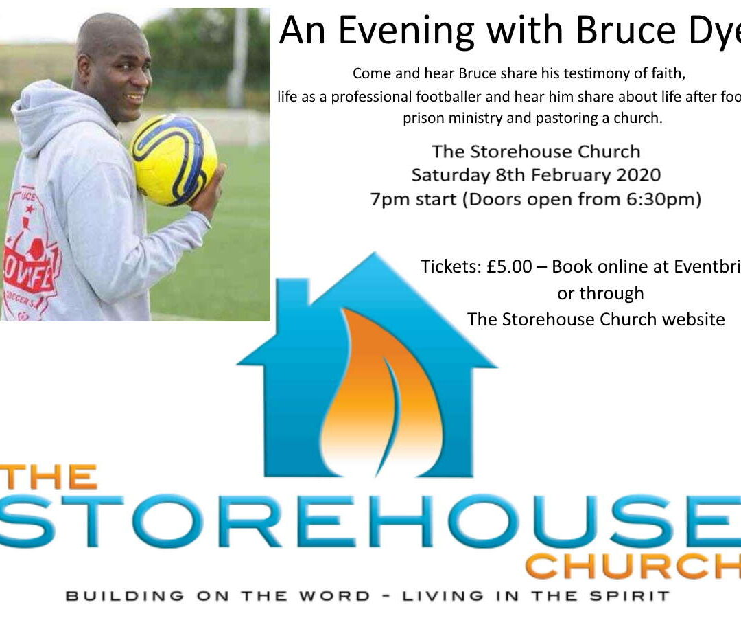 An Evening with Bruce Dyer – former professionalfootballer