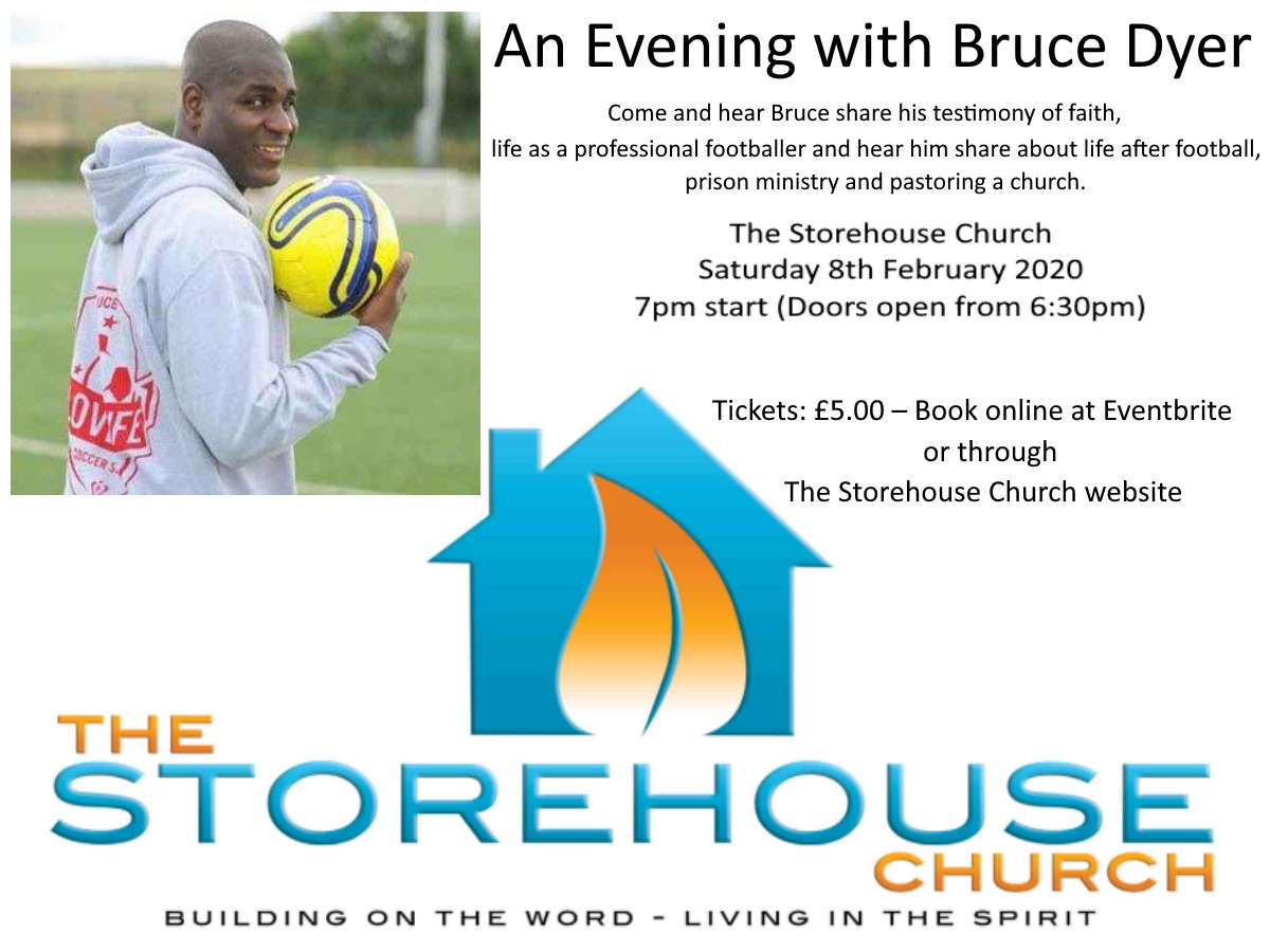 An Evening with Bruce Dyer – former professional footballer