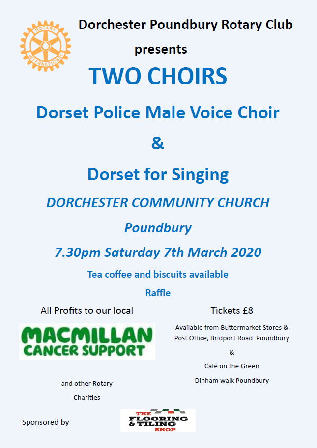 Dorchester Poundbury Rotary Club – TWO CHOIRS
